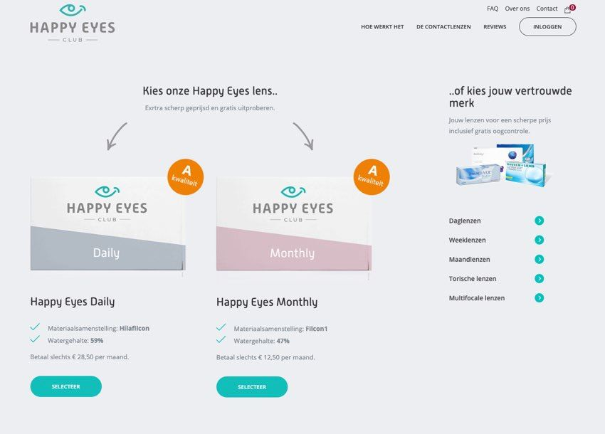 Website Happy Eyes Club